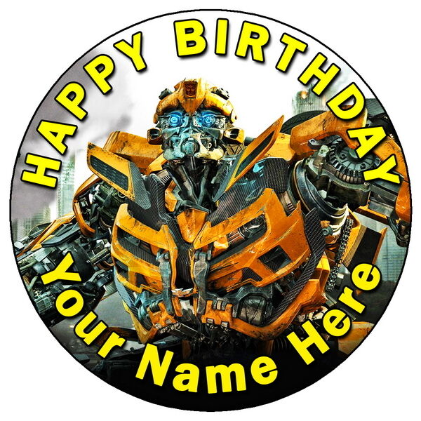 transformers wedding cake toppers transformers bumblebee 7 5 quot personalised edible 21240