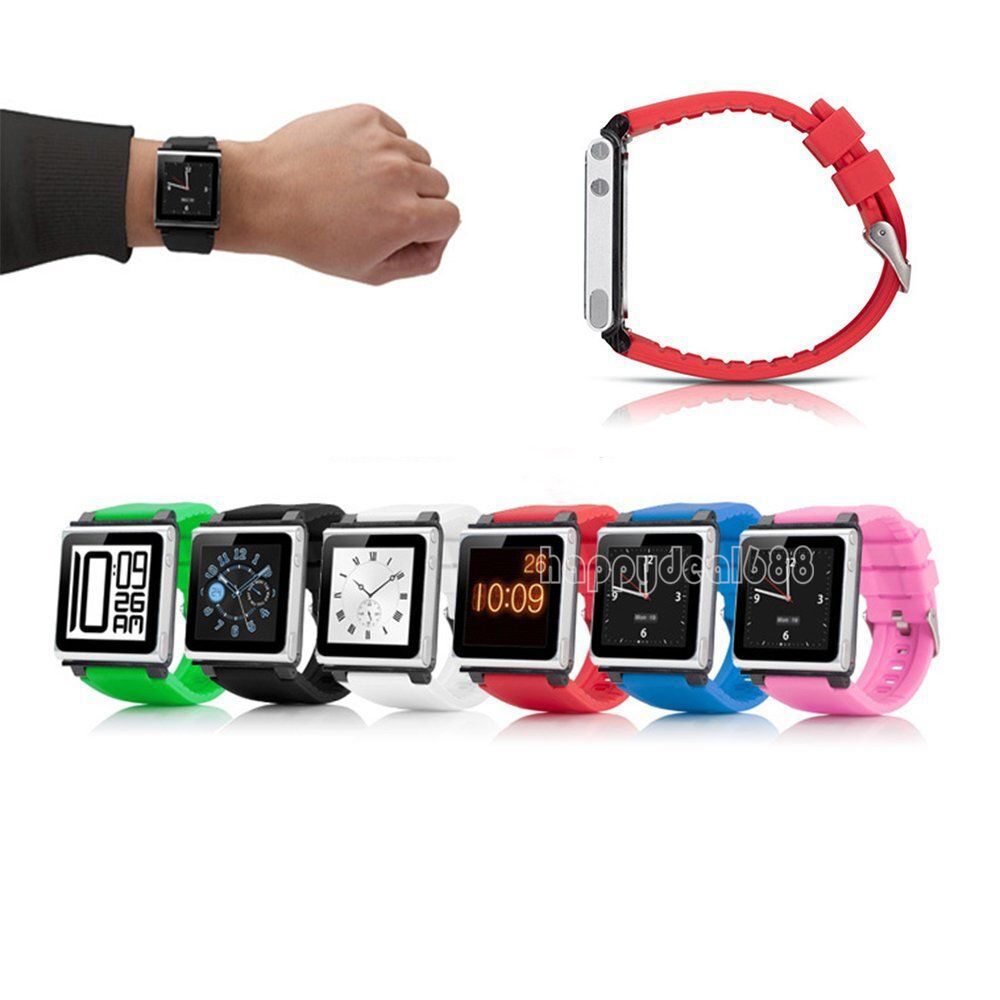 silicone watch band wrist strap case cover for apple ipod