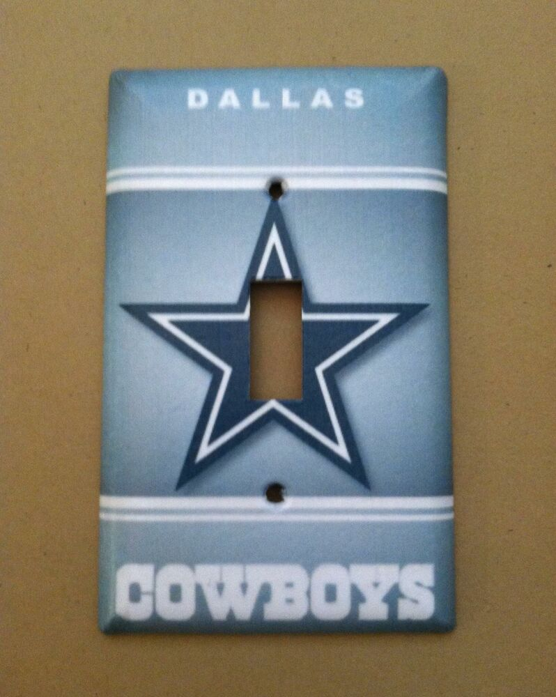 Dallas Cowboys Light Switch Plate Cover Choose Size Cover