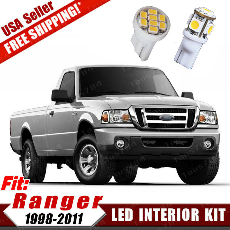 10pure White Combo 12v Smd Conversion Led Package Kit For 1998 2011 Ford Ranger Ebay