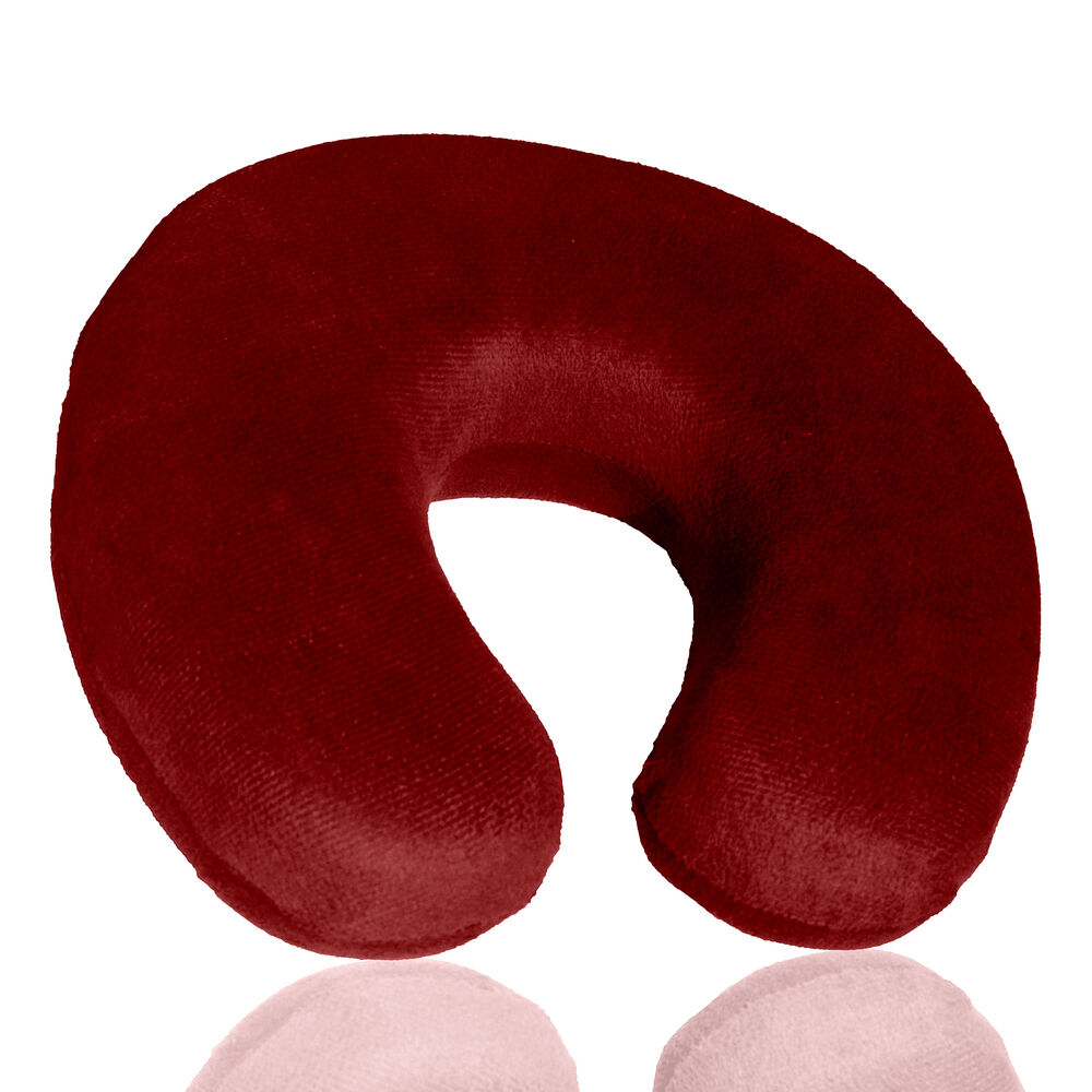 Memory Foam U Shaped Travel Pillow Neck Support Head Rest ...