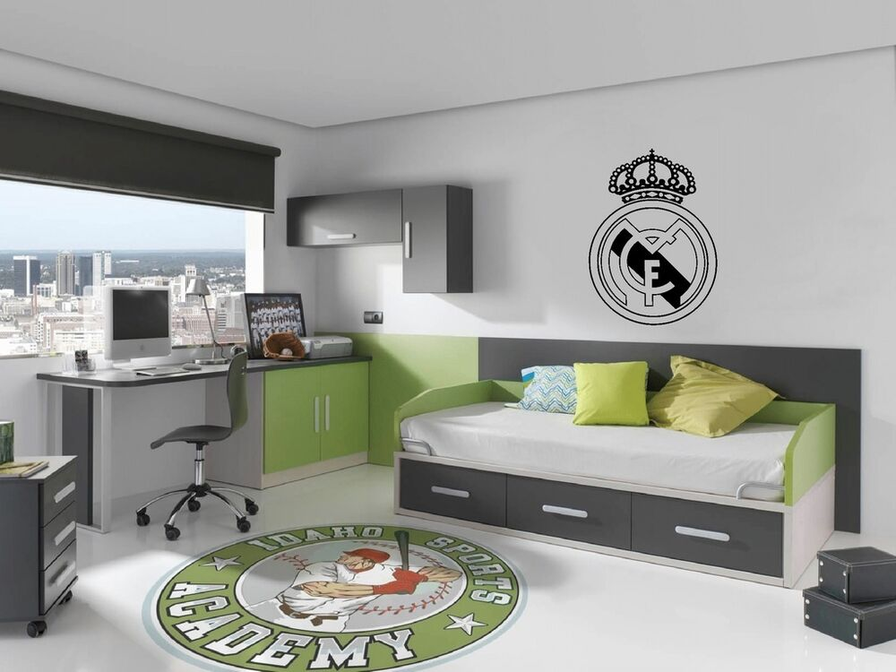 Vinilo adhesivo escudo real madrid stickers decoraci n - Vinilos pared madrid ...