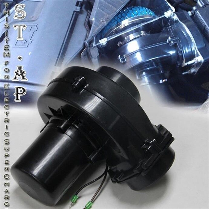 Electric Turbochargers: JDM Air Intake Electric TurboCharger Supercharger Gas