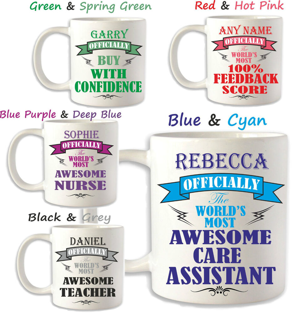 Birthday gift idea care assistant carer nurse personalised for Gift ideas for assistants