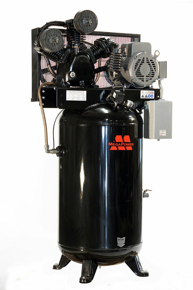 Baldor 7 5 Hp Single Phase Motor 80 Gal Vertical Air