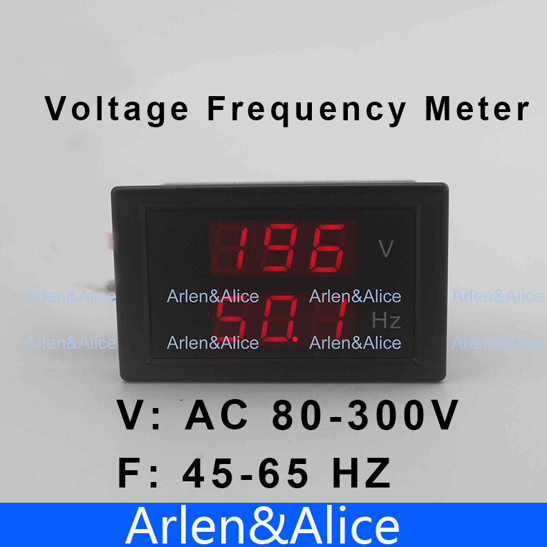 Hertz Frequency Meter : Led dual display voltage frequency meter voltmeter range