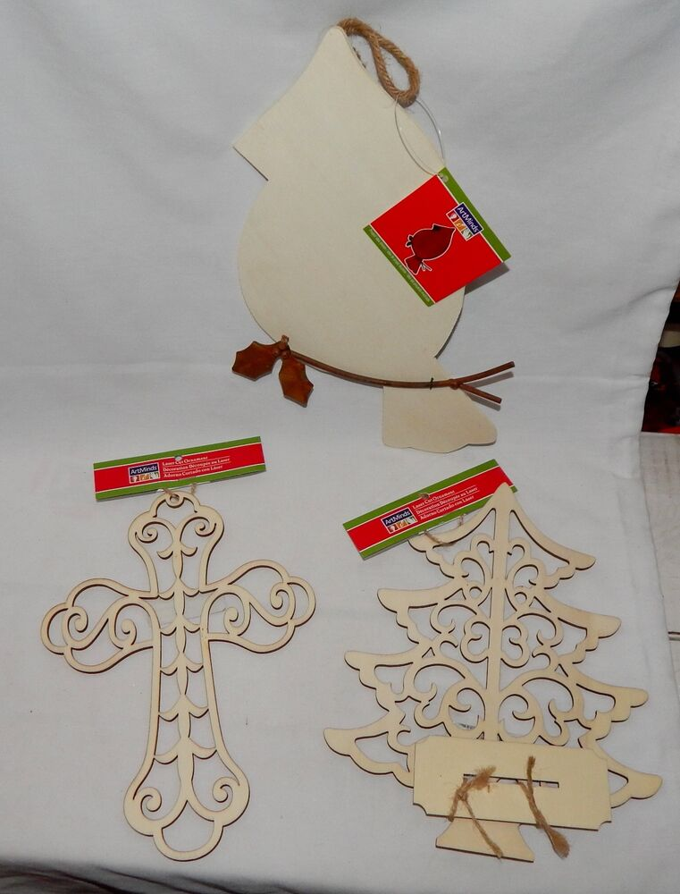 Christmas michaels artminds laser cut wood ornaments tree for Christmas trees at michaels craft store