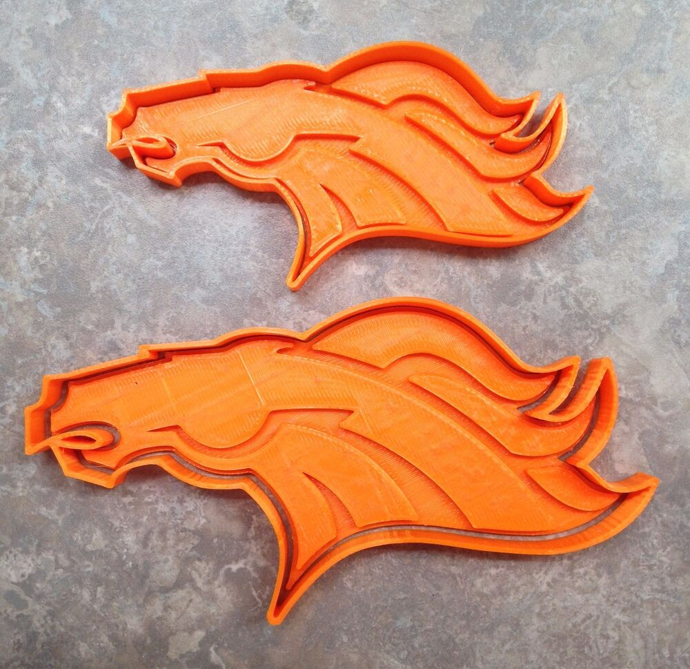 Denver Broncos - Cookie Cutter - Choice of 4 Sizes - 3D Printed ...