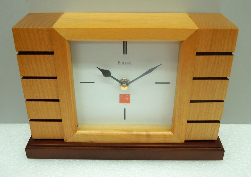 Frank Lloyd Wright Quot Unison Ii Quot Mantle Clock Made By Bulova