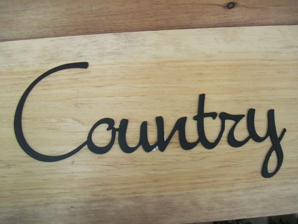 Country-Black Wrought Iron Wall Art Metal Home Decor