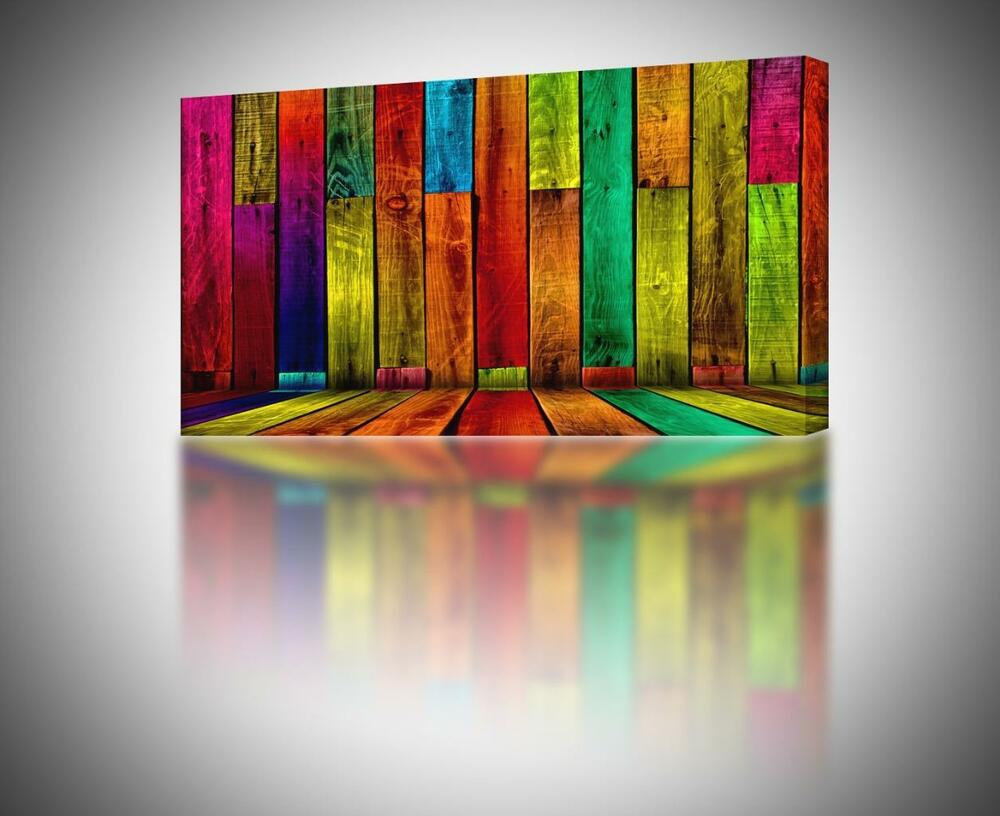 4 sizes colorful abstract boards canvas print home wall Colorful wall decor
