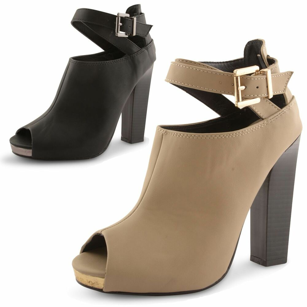 womens dolcis ankle boots peep toe high heel