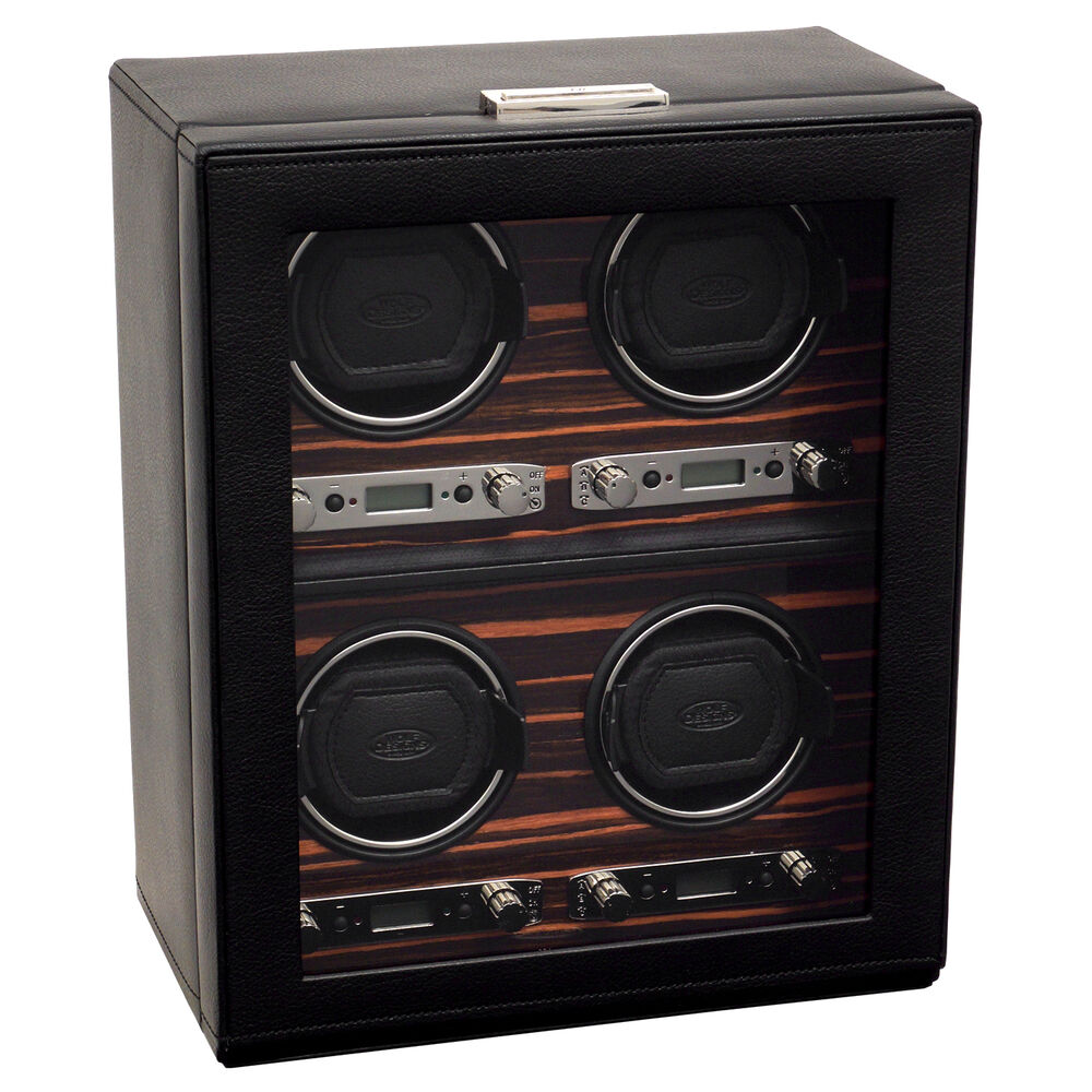 Wolf designs 2 7 roadster quad automatic watch winder 4 for 4 box auto