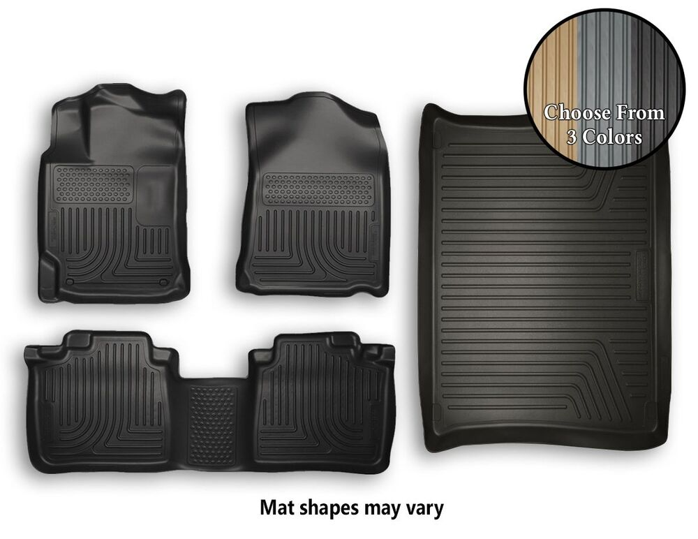 Husky Weatherbeater Front Rear Cargo Floor Mats All