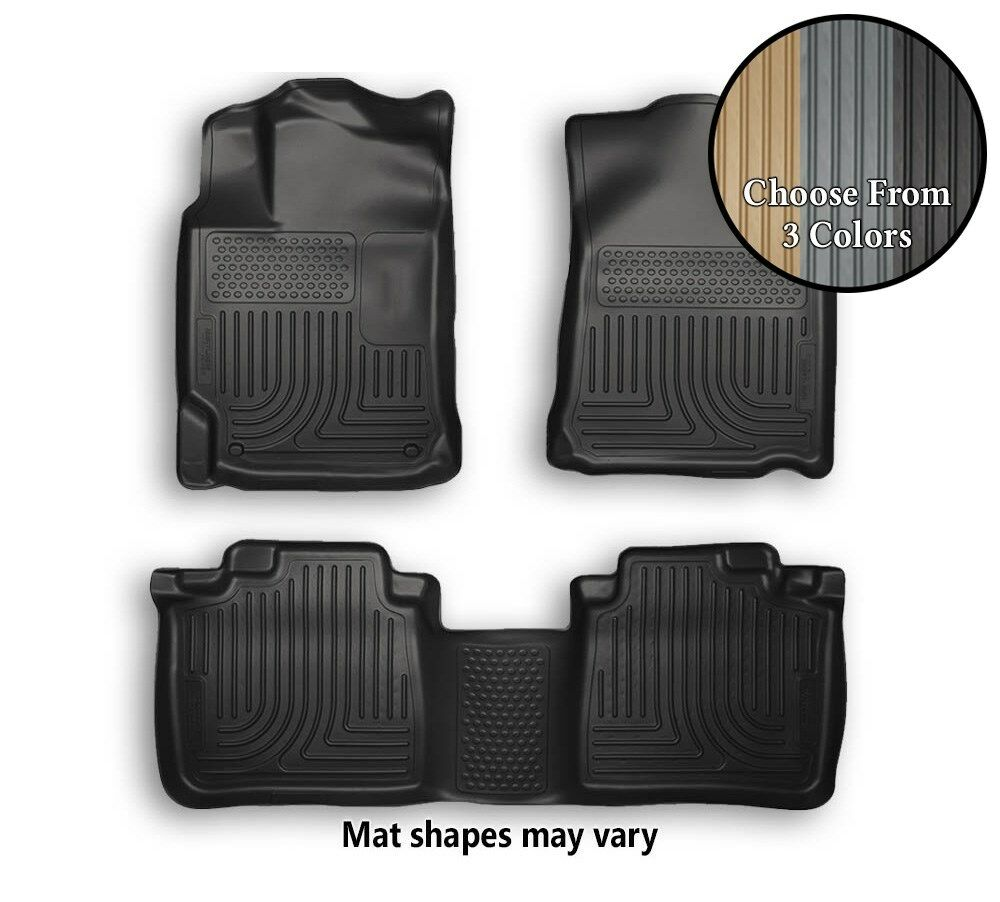 Husky WeatherBeater Front And Rear Floor Mats All Weather