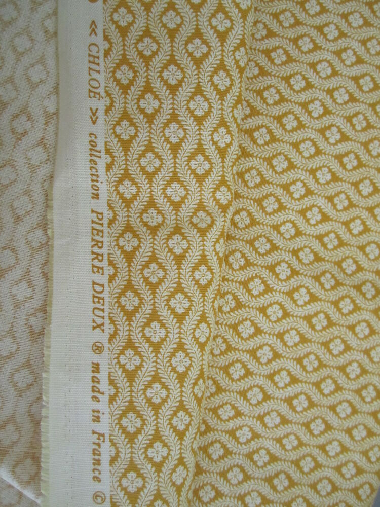 58 w gorgeous pierre deux yellow gold chloe french for French toile fabric