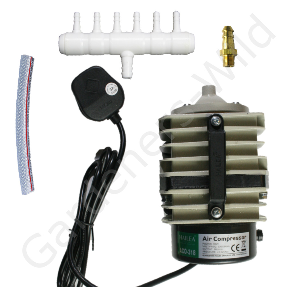 Aco318 Ac60 Hailea Air Pump 60l Min Piston Compressor Hydroponic Koi Fish Pond Ebay