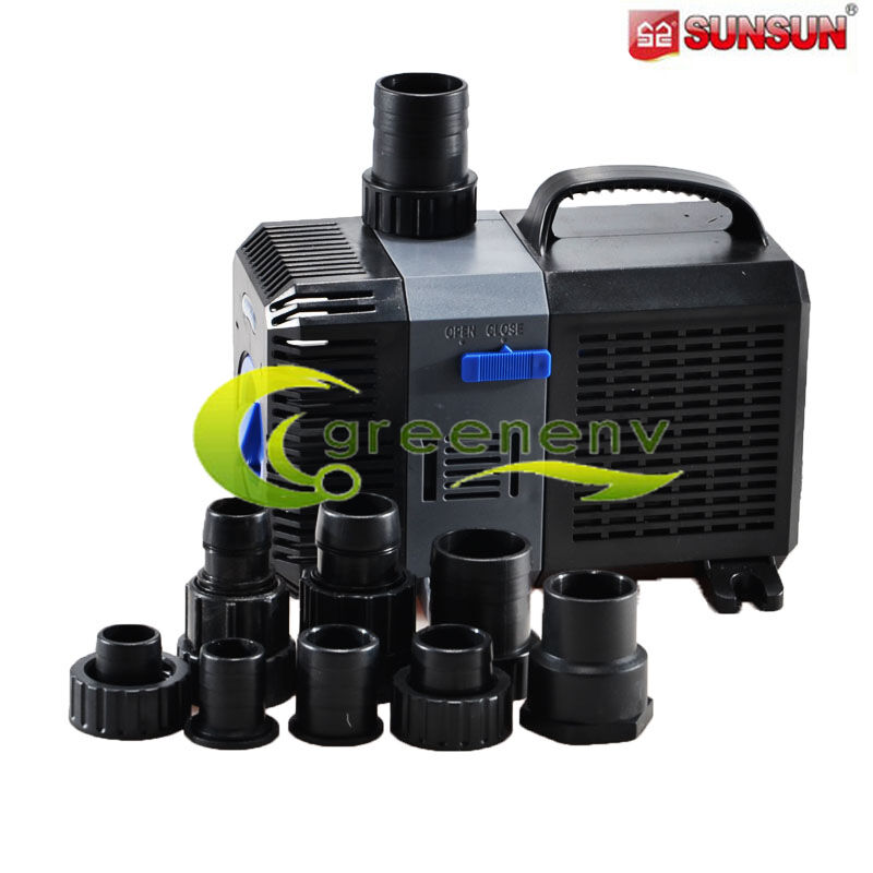 2110 gph submersible pond pump adjustable inline fountain for Garden pond pump filters