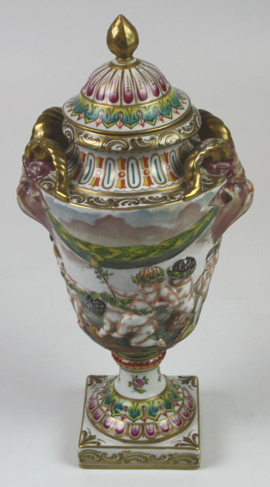 Great Cup Capodimonte Glazed Porcelain Italy 19th