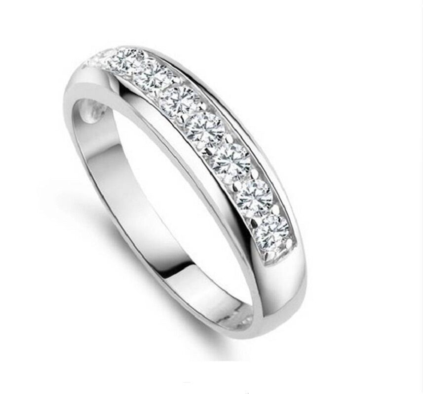 Cheap Wedding Bands For Women: Cheap Wedding Rings For Women Silver Plated Round CZ Ring