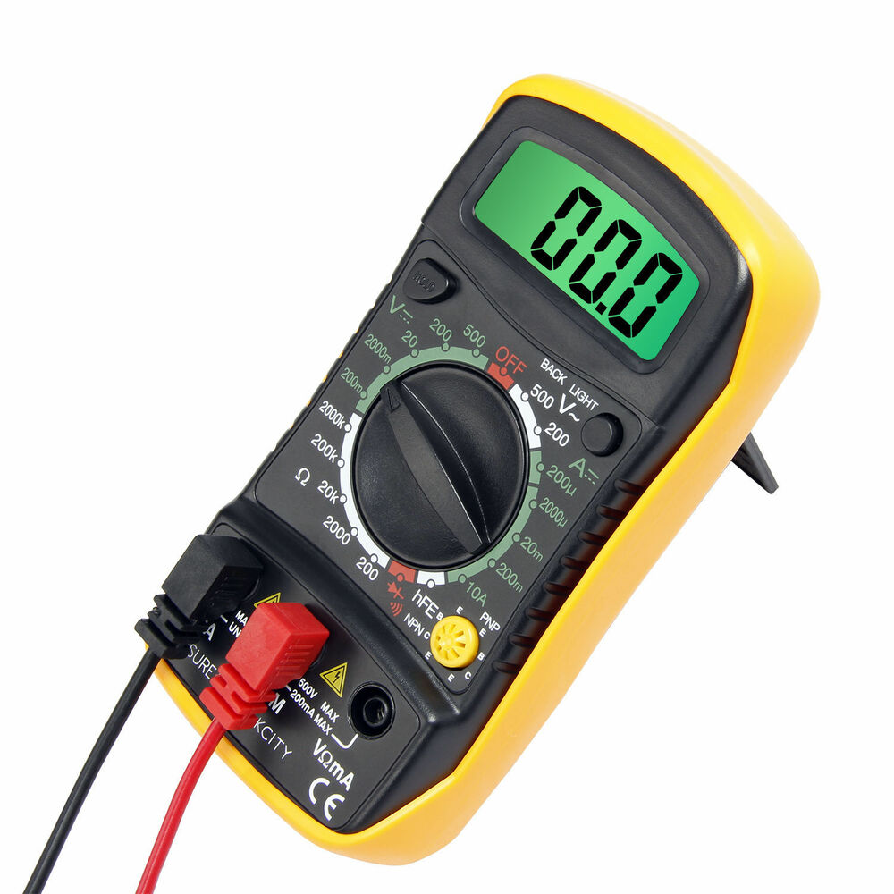 L De Voltage Meter : Us digital lcd multimeter current tester meter ammeter
