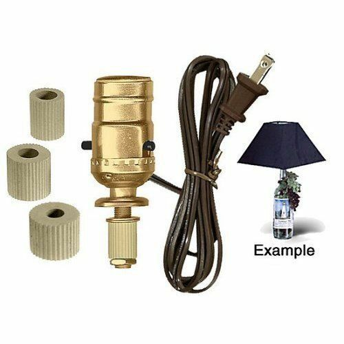 Wine bottle table lamp wiring kits by pld ebay for Table lamp electrical kits