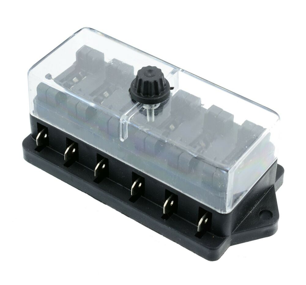 6 way automotive standard blade fuse box holder ebay. Black Bedroom Furniture Sets. Home Design Ideas