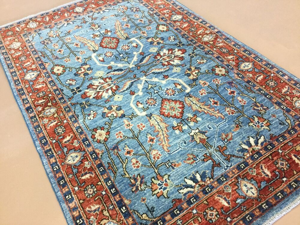 3 3 X 5 0 Light Blue Rust Ziegler Persian Oriental Area