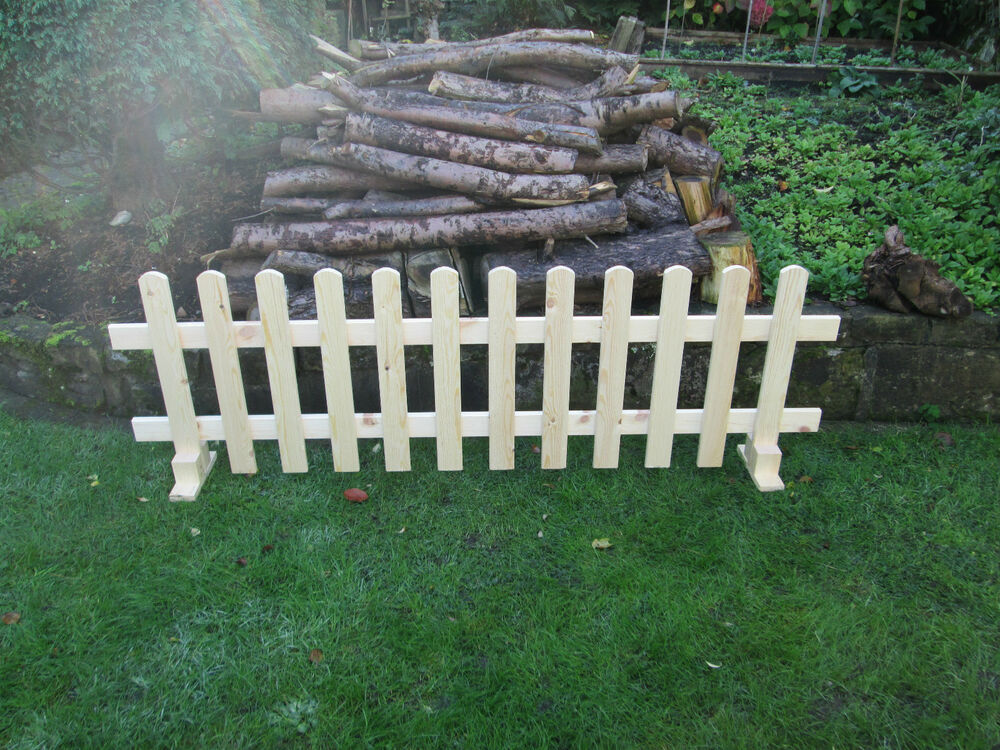 Wooden Free Standing Picket Fence Panels 6ftx2ft Planed