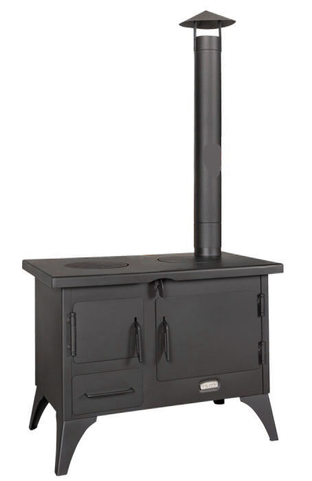 wood burning cooking garden stove fireplace oven cooker chimney cowl incl 5 kw ebay. Black Bedroom Furniture Sets. Home Design Ideas