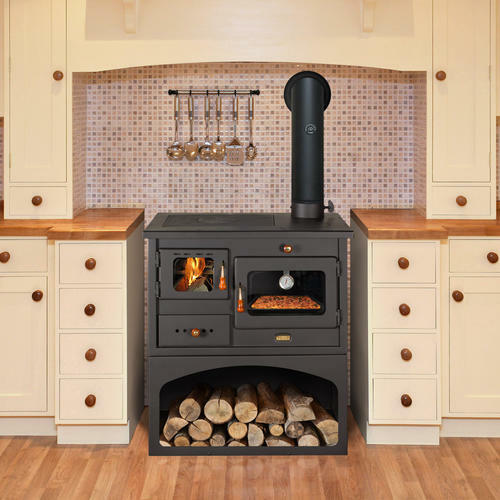 Kitchen Stoves: Wood Burning Cast Iron Top Solid Fuel Cooking Stove