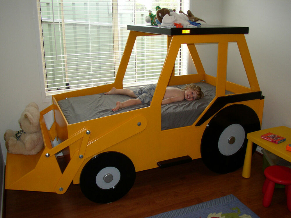 Front end loader bed woodworking plan by plans4wood ebay - Toddler beds for boys ...