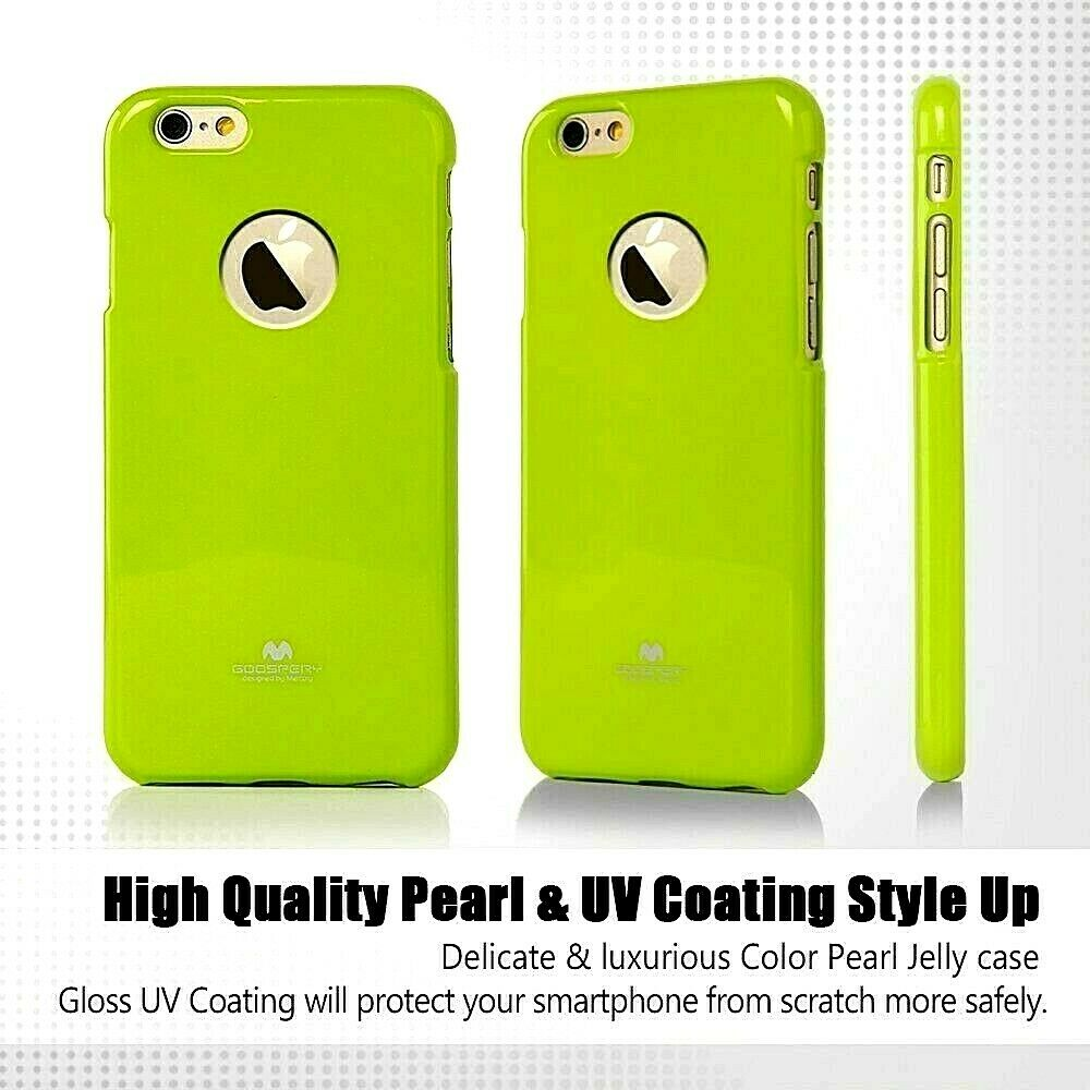For Iphone 6 6s Genuine Goospery Green Jelly Case Cover And Apple Pearl All Type Special  Red Logo Cutout Ebay