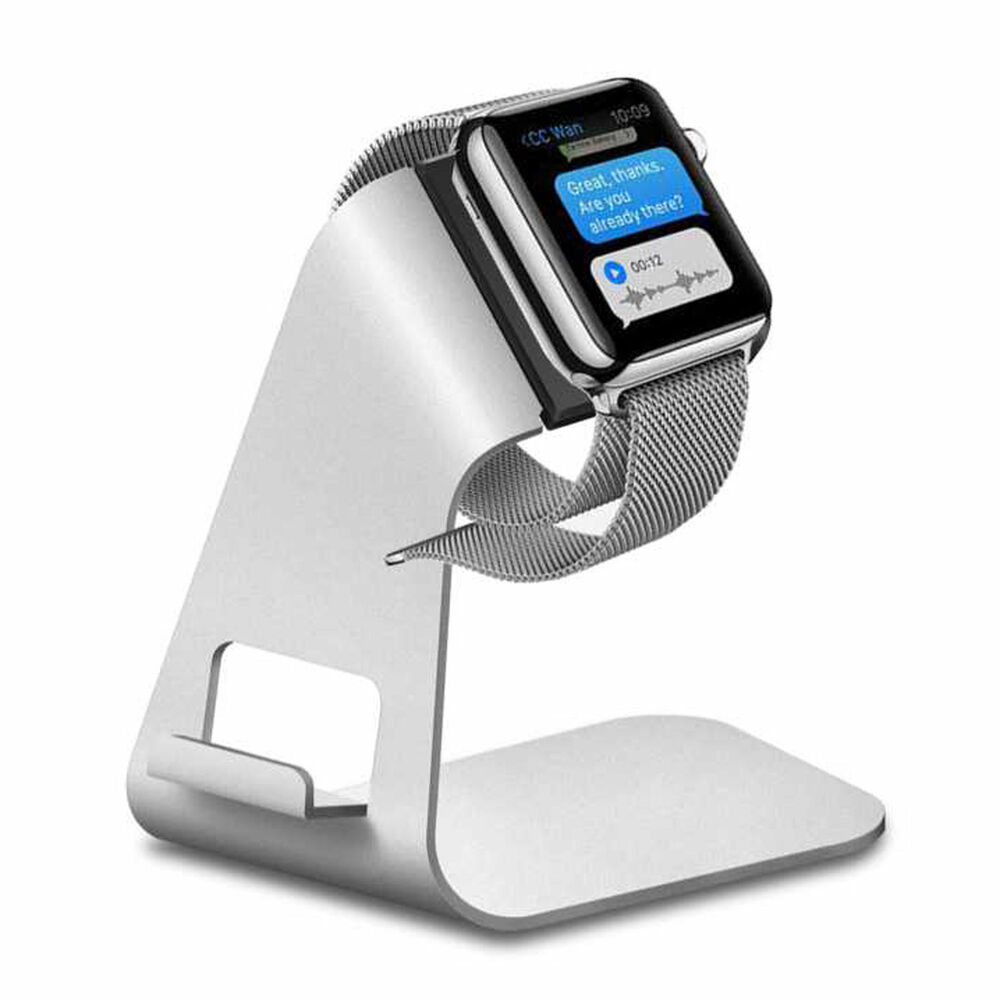aluminum apple watch stand charging dock station holder. Black Bedroom Furniture Sets. Home Design Ideas