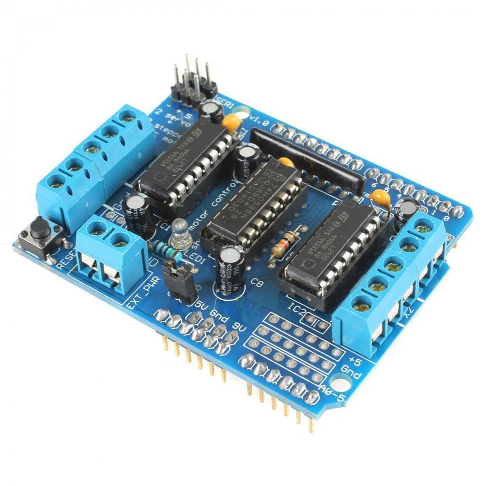 L293d motor control dc stepper motor drive expanding board for Arduino controlled stepper motor