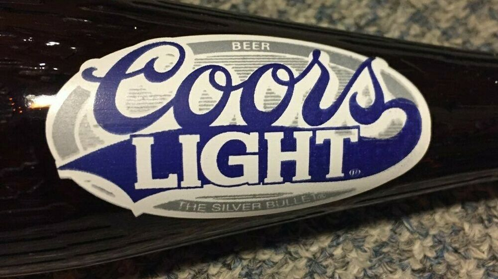 Vintage Coors Light Collectible Beer Bottle Bat For The