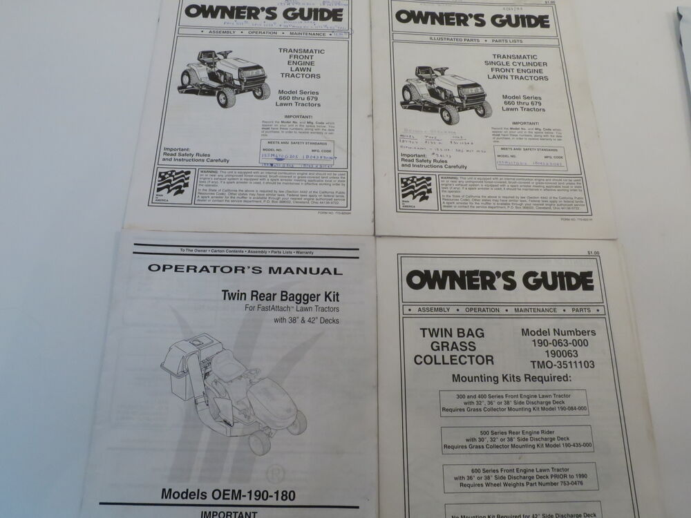 Huskee Mower Manuals : Mtd owner operator s manual guide for  lawn mower