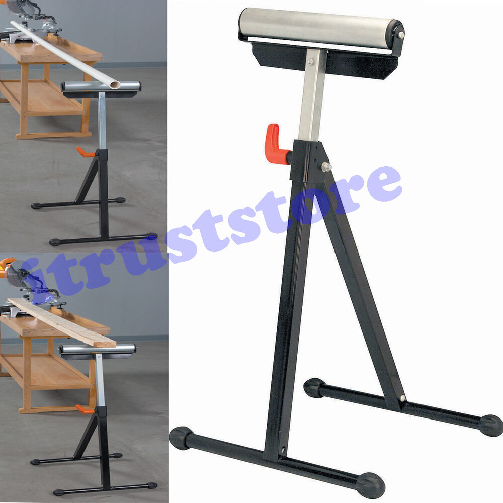 Folding Work Workload Support Table Saw Bearing Roller Wheel Stand Adjustable Ebay