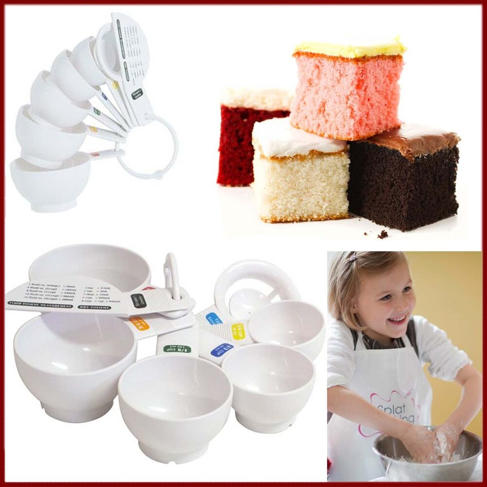 Tala 7 piece kitchen measuring cups set with scraper white for Kitchen set 7 in 1