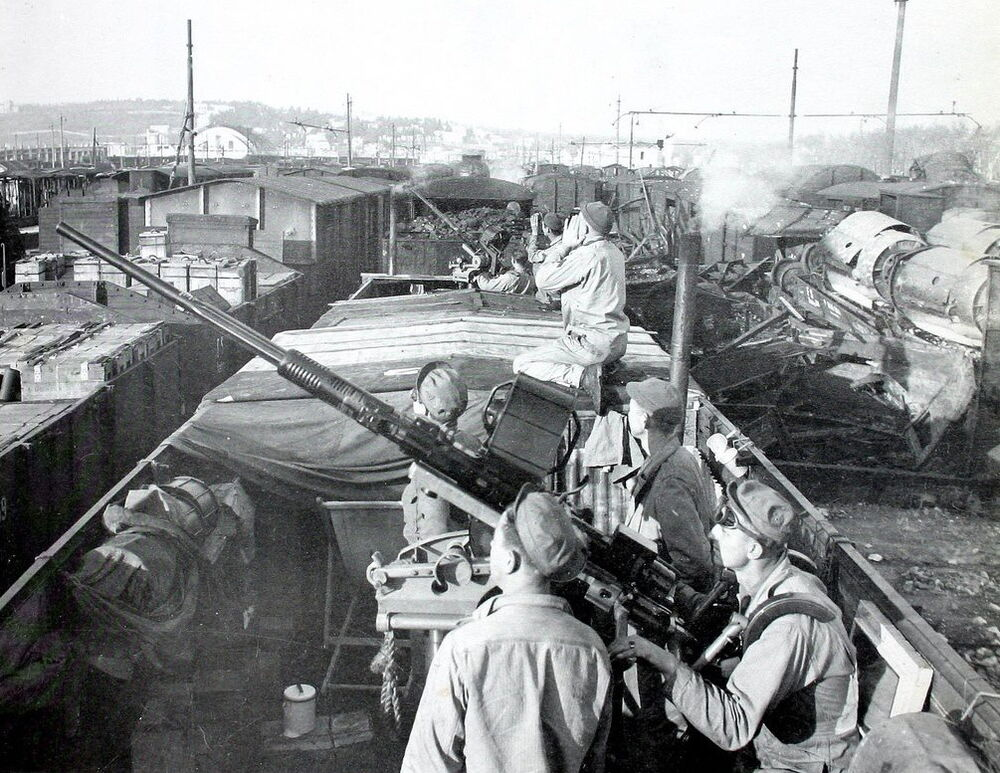 WW2 Photo WWII US Army Anti-Aircraft Troops Naples Italy ...