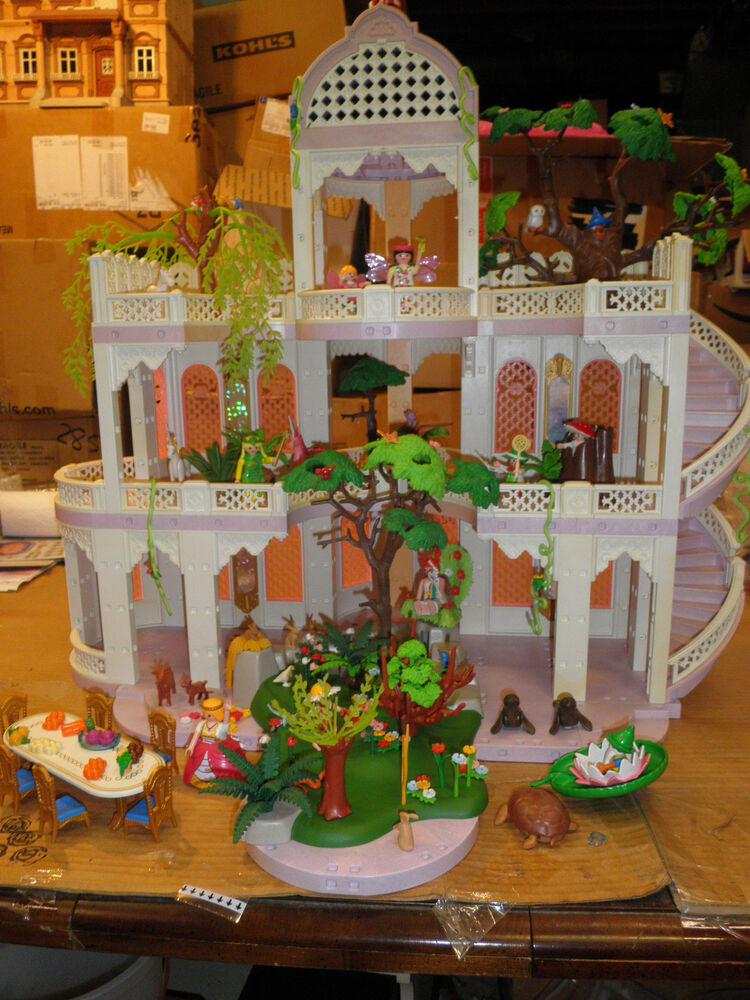Playmobil 3019 fairy tale royal castle trees animas elves for Table playmobil