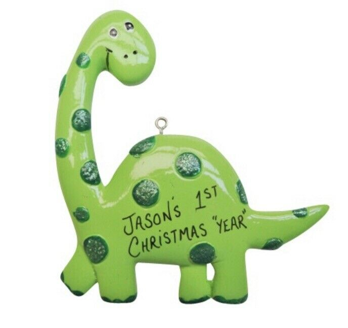 Personalized Dinosaur Boy / Girl Christmas Ornament | eBay