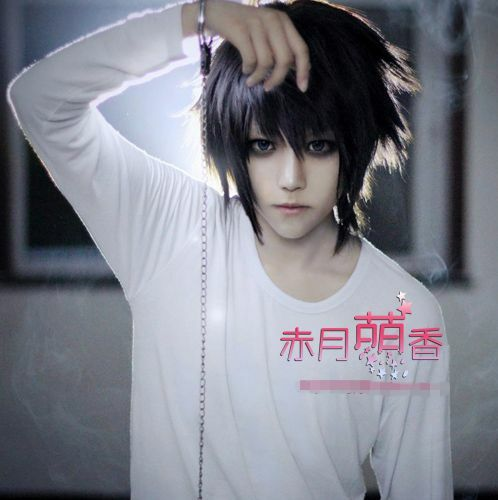 Anime Death Note L Lawliet Cosplay Wig Hair Cos Accessary