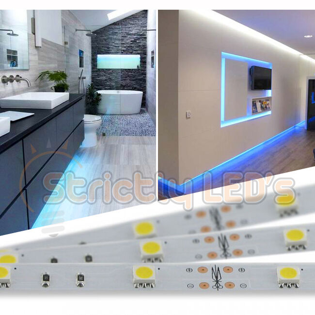 Kitchen Under Cabinet Strip Lighting: BLUE LED STRIP LIGHTS 5050 LED TAPE STRIPS KITCHEN UNDER