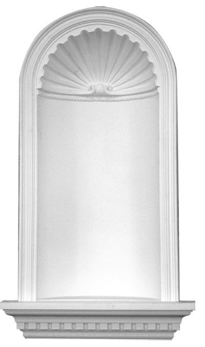 recessed wall niche 48 primed white polyurethane d608