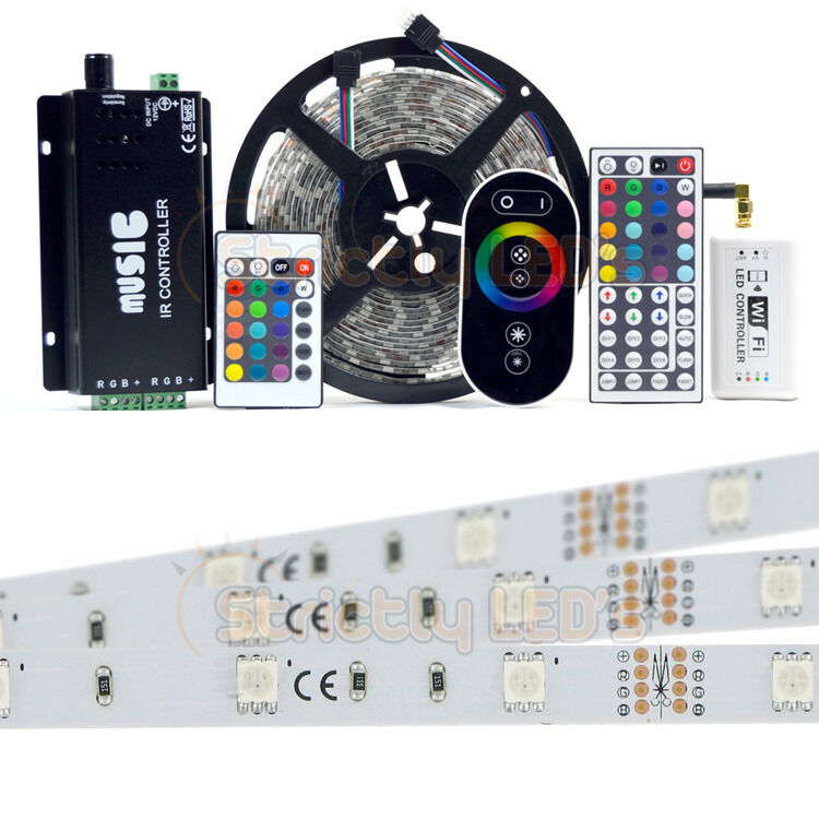 Rgb 5050 Led Strip Lights Colour Changing Tape Under