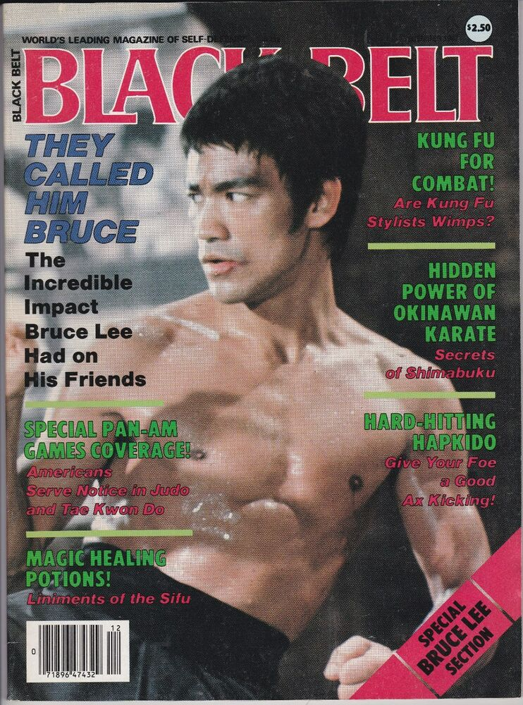 VINTAGE BLACK BELT MAGAZINE-BRUCE LEE COVER-DECEMBER,1987 ...
