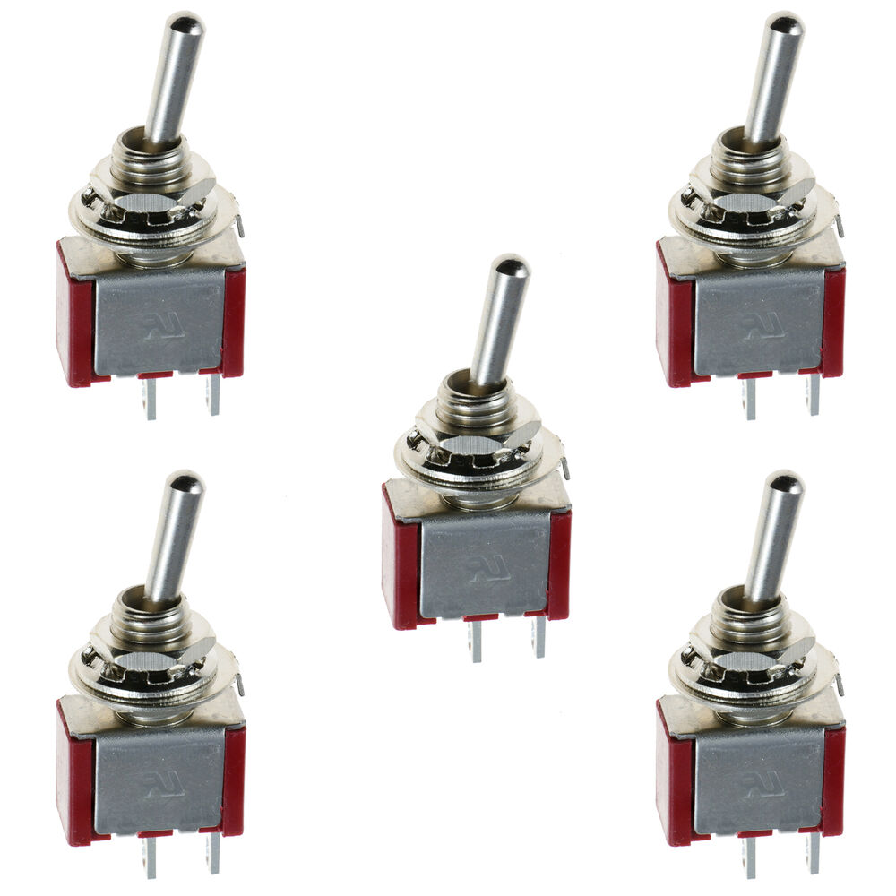 5 X On Off Mini Miniature Toggle Switch Car Dash Dashboard