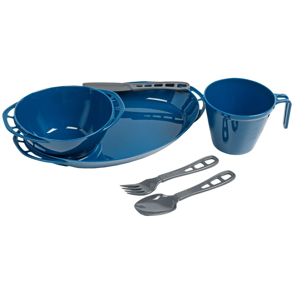 Gsi outdoors thrive 4 pc single table set camping for Table utensils