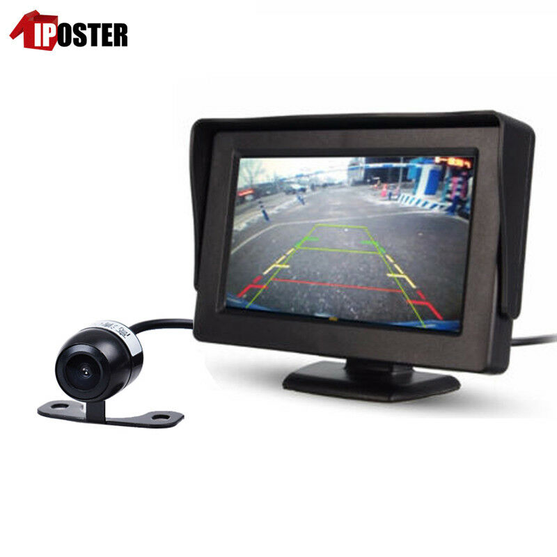 car rear view parking system 4 3 monitor backup camera night vision waterproof ebay. Black Bedroom Furniture Sets. Home Design Ideas